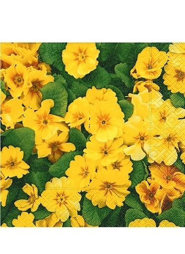 Yellow Prime Roses Peçete-Dünya Style